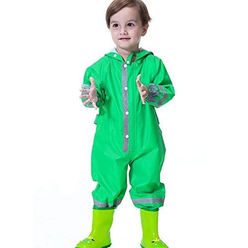 mama stadt Kinder Regenanzug Jungen Mädchen Wasserdicht Regen-Overall Regenmantel Softshelljacke Regenjacke Outdoorjacke für Schule,Fussball,Wandern 80-130CM