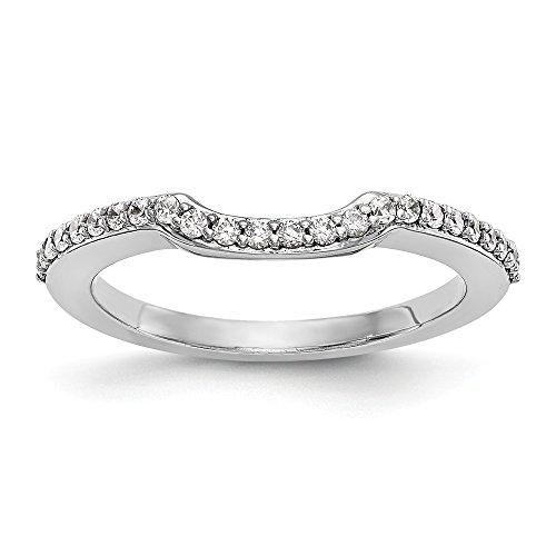 Diamond2Deal Damen 14K Weiß Gold True Origin Lab-Grown Diamant Hochzeit Band Ring, VS/E 0,24Karat