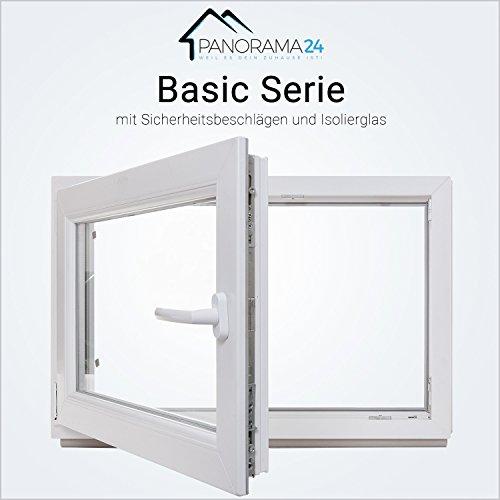 Kellerfenster - Kunststoff - Fenster - weiß - 2-fach-Verglasung - BxH: 50x40 cm - DIN links - 60mm Profil - verschiedene Maße - LAGERWARE