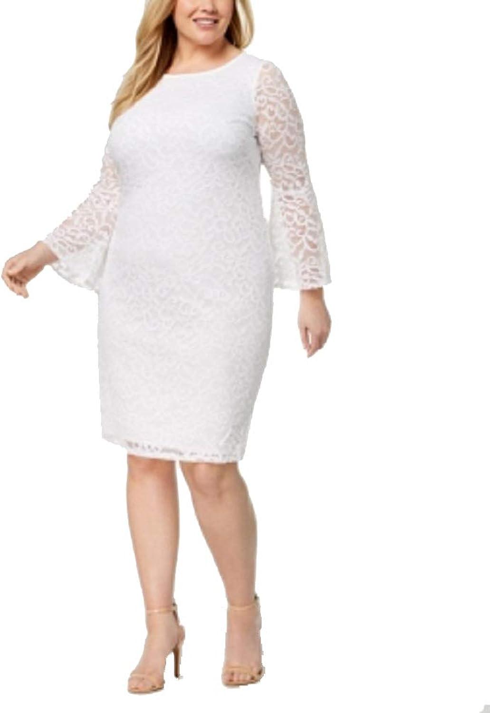 Alfani Plus Size Lace BellSleeve Sheath Dress