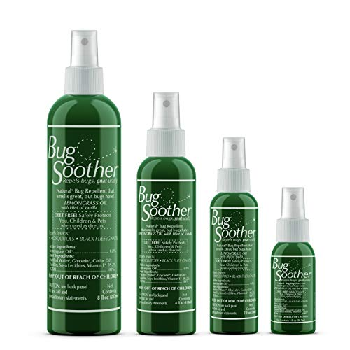 Bug Soother Spray Family Pack - Natural Insect, Gnat and Mosquito Repellent & Deterrent with Essential Oils - DEET Free - Safe Bug Spray for Adults, Kids, Pets, & Environment - Made in USA