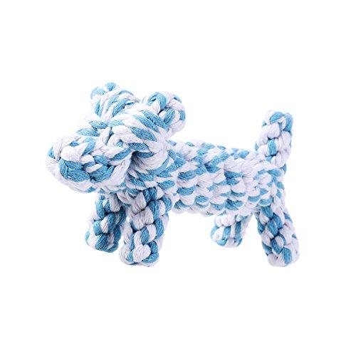 WINOMO Jouets pour animaux familiers-corde de mâcher modèle Tiger chiot Cartoon pour petit chien mordant dents nettoyage jouet