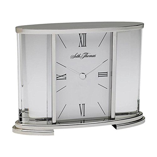 Seth Thomas Silver Glass Carriage Table Clock Consumer Electronics