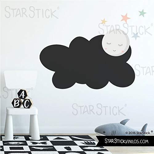 Vinilo pizarra - Nube con luna llena - T3 - Grande