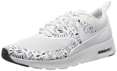 Nike Women's WMNS Air Max Thea Print Sneakers White Size: 3.5 UK
