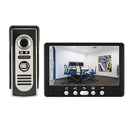 """N-B Sonnette vidéo 7"""" haute définition en métal avec écran LCD étanche vision nocturne"""