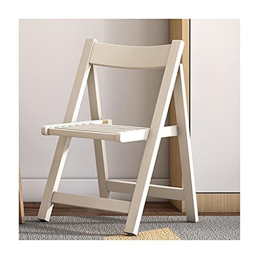 YAZHUANG8 Silla Plegable Silla de Asientos for el hogar Taburete portátil Silla de Comedor Plegable Simple Oficina Silla de la Oficina Respaldo (Color : A)