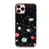 TNCYOLL iPhone 11 Pro Case,Galaxy Planet Design Slim Flexible Bumper TPU Soft Spaceship Cover Compatible with Apple iPhone 11 Pro 5.8 inch 2019