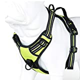 no pull dog harness with handle, reflective, 2 leash attachments, all sizes
