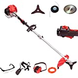 WOLLEN G315, NEW PROFESSIONAL 58CC <span class='highlight'>PETROL</span> GRASS TRIMMER BRUSHCUTTER <span class='highlight'>LAWN</span> TRIMMER VERY POWERFUL HEAVY DUTY SPLIT SHAFT MODEL 2-STROKE 3.7KW / 5HP WITH FREE HARNESS AND PROFESSIONAL ACCESSORIES