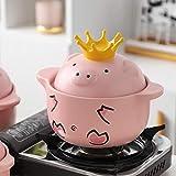 Ceramica Zuppa Pot Latte Pot Casseruola Stufato Minestra Porridge Famiglia Ad Alta Temperatura Fuoco Gas Pot Vintage, 1.0L