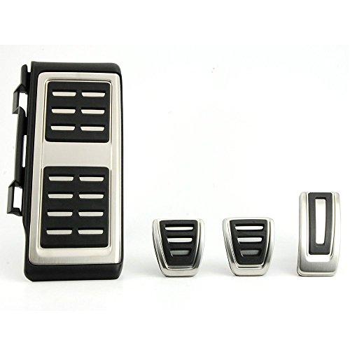 Di&Mi Pedalauflagen Pedale Bremse Fußstütze Pedalset aus Edelstahl AT/MT (4)