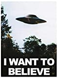 Taqui I Want to Believe UFO TV Series Kunst Riesen Poster,