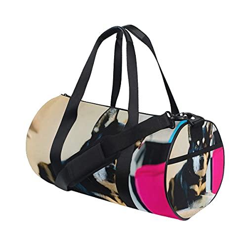 Borsone da palestra, Good Dogs Husky per fare foto perfette per nuotare, sport, viaggi, palestra, con scomparto per scarpe e tasca bagnata, per donne o uomini
