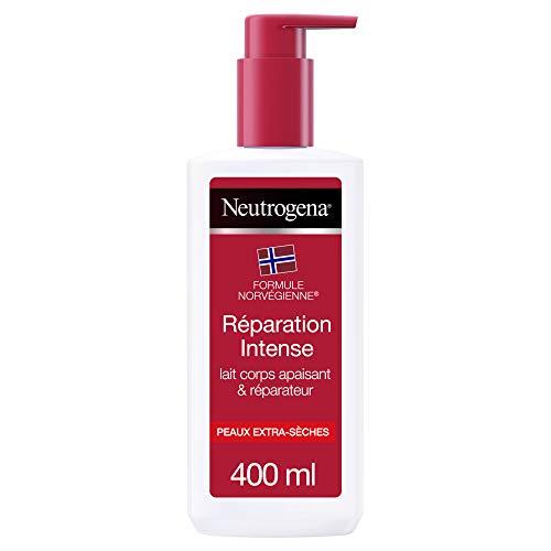 Neutrogena Lait Hydratant Corps, Réparation Intense, pour Peaux Extra Sèches, 1 Flacon Pompe de 400 ml