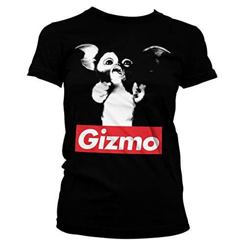 GREMLINS Offizielles Lizenzprodukt Gizmo Damen T-Shirt (Schwarz), Medium