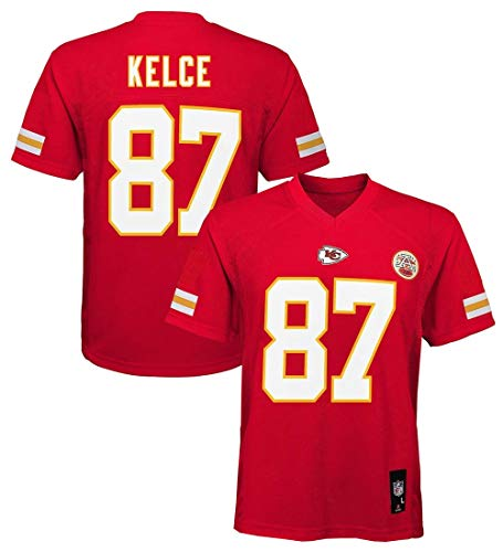 Outerstuff Travis Kelce Kansas City Chiefs NFL Youth Red Home Mid-Tier Jersey (Medium 10-12)