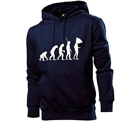 Generisch Evolution Hundehalskragen Männer Hoodie Sweatshirt Navy M - shirt84.de