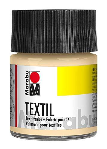 Marabu 17160005029 - Textil Stoffmalfarbe hautfarbe 50 ml, Stoffdruckfarbe auf Wasserbasis, für helle Stoffe, waschbeständig bis 60°C, weicher Griff, einfache Fixierung durch Bügeln o. Backofen
