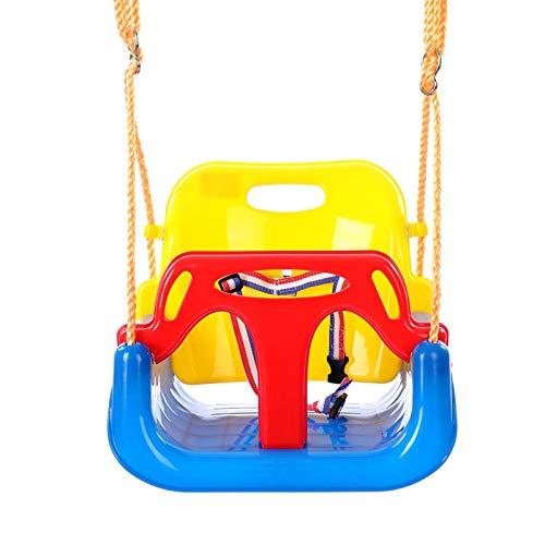KUKU Baby Swing, Swing portátil, Silla Colgante de Ocio Interior y al Aire Libre, Swing de Porche de Tela de Tela de bebé, Silla de Silla de Dormir Colgando (con Accesorios al Aire Libre)