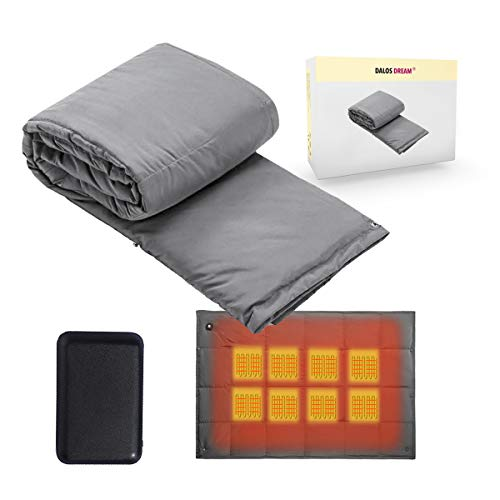 Battery Powered Heated Blanket Throw Super Fast Heating Electric Blanket Outdoor Activity Body Warming USB Heated Throw Blanket Travel Blanket Office Blanket Outdoor Blanket with Battery