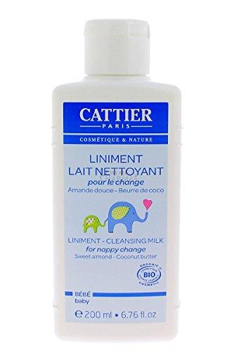Cattier Lait crème pour le change Liniment Amande douce Beurre de Coco 200ml