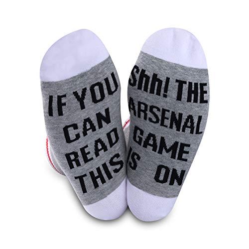 Calcetines de fútbol del Arsenal, regalo para los fanáticos del Arsenal, regalo si puedes leer esto, el juego del Arsenal está en calcetines de fútbol para hombres y mujeres