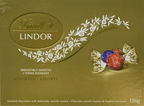 Lindt Lindor Assorted Chocolates (Milk, Dark and Hazelnut), Gift Box, 156g