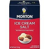 Morton Ice Cream Salt, Rock Salt, 4 Pounds (Pack of 8)