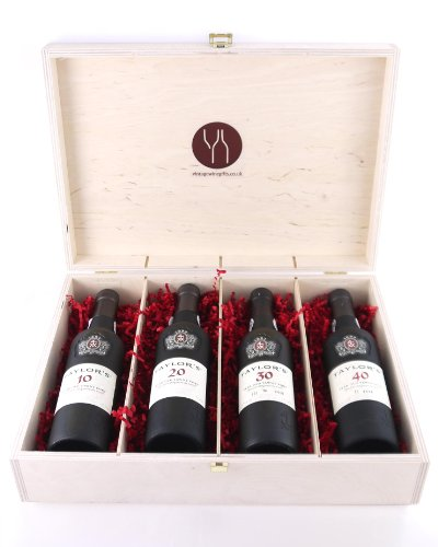 Photo of Taylor's a century of Port 1921 four bottles 37.5cl presented in a wooden gift box, 4 x 375ml