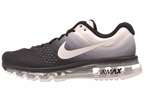 Nike–Air Max 2017–bianco sporco–848560–005, Grigio (Black Grey White), 36 EU