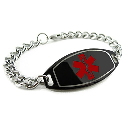 My Identity Doctor Customized Medical ID Bracelet 316L...
