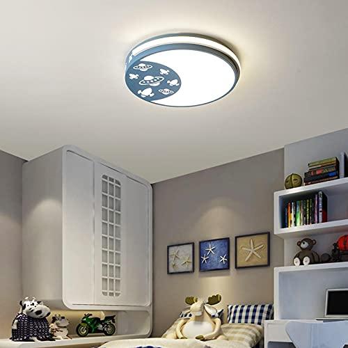 Lámpara De Techo Regulable Con Mando A Distancia,Plafón Led De Techo Infantil,Habitación Moderna Para Niños De Tres Tonos De Luz 46 Vatios 42 * 42 * 7 Cm