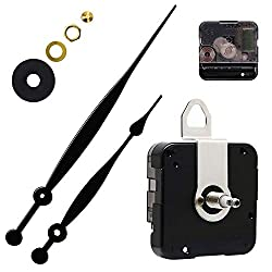 Quartz DIY Wall Clock Movement Mechanisms Battery Powered DIY Repair Parts Replacement with 2 Long Hands,3/10 Inch Maximum Dial Thickness,29/32 Inch Total Shaft Length. …