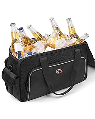 Motorcycle Saddlebag Cooler, Saddle Bag Soft Cooler Universal for Chieftain Touring Cross Country with Hard Saddlebags, Insert Cooler 1 Pack, Black by kemimoto