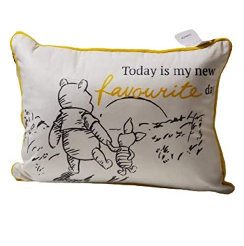 Disney Winnie The Pooh - Cojín de viaje, color blanco y amarillo