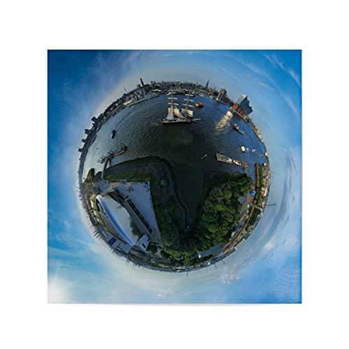 artboxONE Poster 20x20 cm Städte Hamburg 2018 - Hafengeburtstag - Bild Hamburg Elbe elbphilharmonie