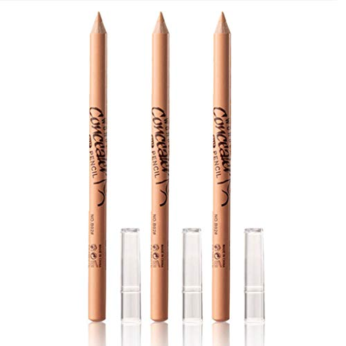 3 PCS Wonder Concealer Pencil, Concealer Stick Set, Waterproof Full Coverage Foundation Concealer for Eye Dark Circles Spot & Imperfections, Scar (B02#)