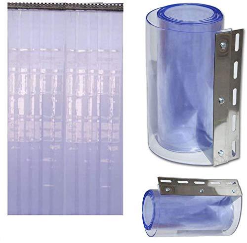 Cortina de tira Airtech para la puerta del congelador, 1m x 2m, pvc, Morado, 1 m x 2 m