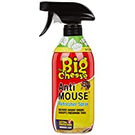 The Big Cheese Anti Mouse Refresher 500 ml Spray (Refreshes Sachets, Deters Rats and Mice, Poison-Free, 30 Days Protection)