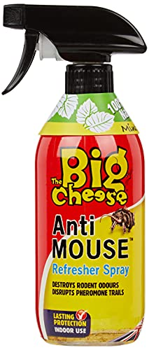 STV International The Big Cheese Anti Mouse Refresher 500 ml Spray (rinfresca bustine, dissuasore ratti e Topi, Senza veleni, 30 Giorni di Protezione)