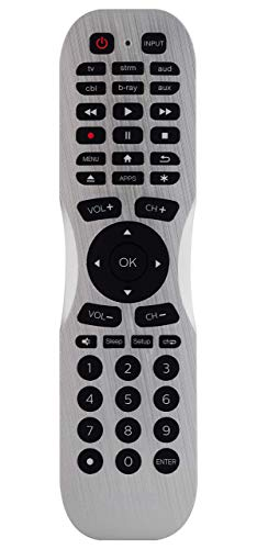 Philips Universal Companion Remote Control for Samsung, Vizio, LG, Sony, Roku, Apple TV, RCA, Panasonic, Smart TVs, Streaming Players, Blu-ray, DVD, 4 Device, Flip & Slide Fire TV, Black, SRP2024A/27