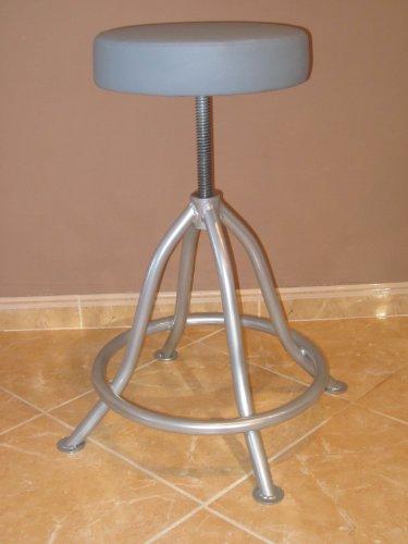 LIBEDOR Stehhilfe Stehhocker Stehsitz Sitz mit 6 cm dickem Polster im Silber bis 150 kg! Belastbar Stufenlos einstellbar