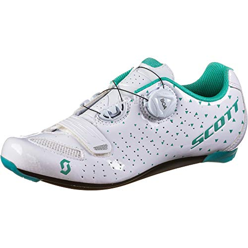 Scott 251824 Road Comp Boa Lady GL WH/tq bl 40.0 Unisex Adulto