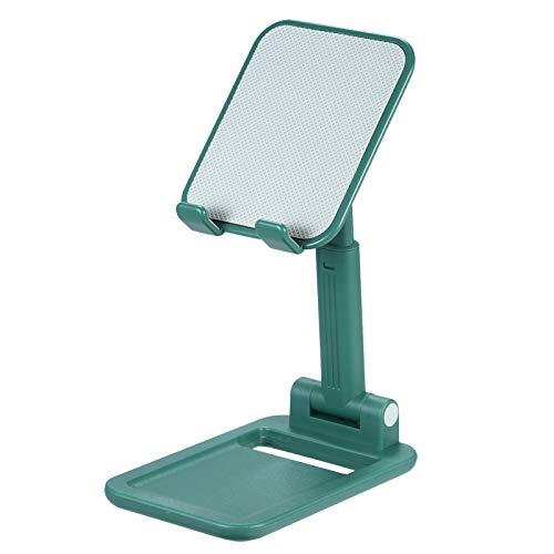 Kstyhome Supporto Pieghevole Retrattile in ABS Supporto da Tavolo Supporto per Telefono Portatile Regolazione dell'angolo Regolabile in Altezza Adatto per Tablet Smartphone da 4~10 Pollici Verde