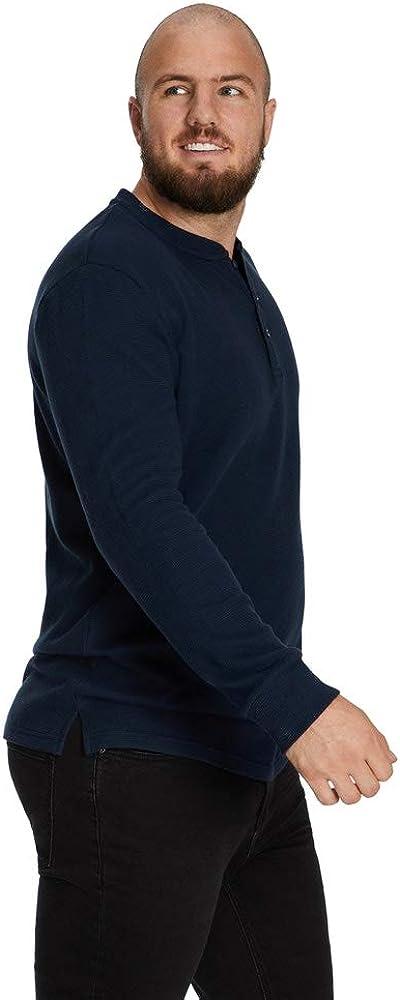 Johnny Bigg Big & Tall Waffle Henley Long Sleeve Top
