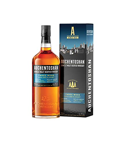 Auchentoshan Three Wood Single Malt Whisky Escoces, 43%, 700ml