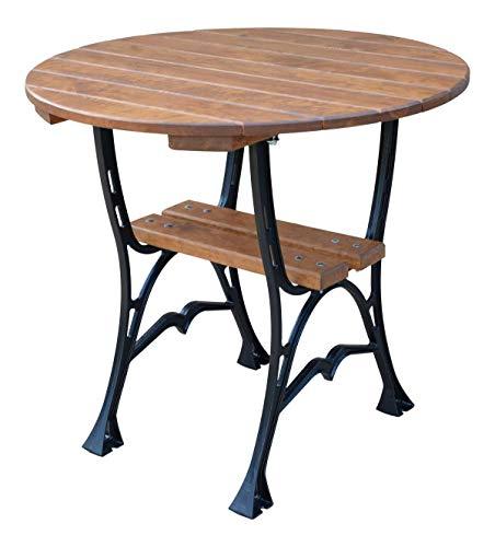 KRAKWOOD Runder Gartentisch Runder Esstisch aus Holz im Freien Deluxe !!!