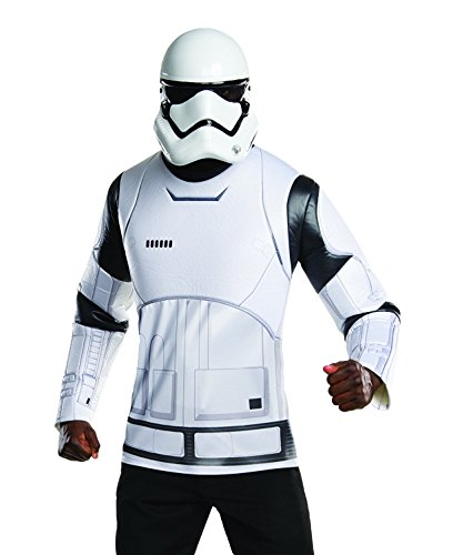 Rubie's Costume Co Men's Stars Wars VII The Force Awakens White Villain Trooper, Multi, X-Large