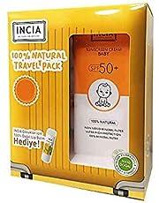 Incia Sunscreen Cream Baby SPF50+ 100ml Lip Balm Set